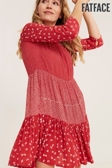 FatFace Red Emilie Daisy Dress
