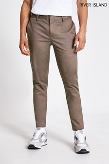 River Island Light Brown Medium Skinny Chino Trousers
