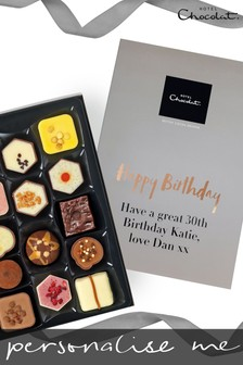 Personalised Happy Birthday Patisserie H Box by Hotel Chocolat