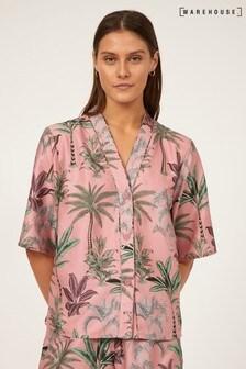 Warehouse Pink Tropical PJ Shirt
