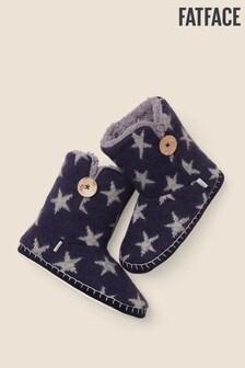 FatFace Blue Star Knit Boots