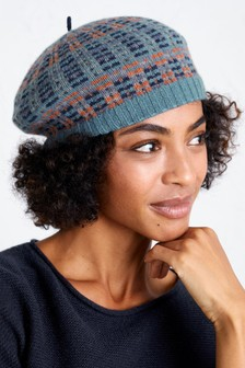 Seasalt Blue Gathering Clouds Beret