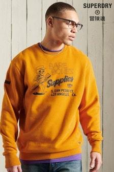 Superdry Orange Workwear Crew Sweatshirt