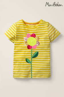 Boden Yellow Sequin Colour Change T-Shirt