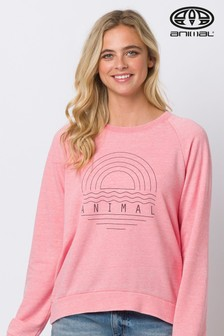 Animal Pink Lamu Crew Neck Sweatshirt