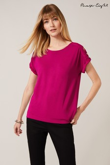 Phase Eight Purple Myah Eyelet Top