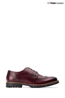 Base London® Red Grundy Washed Lace-Up Shoes