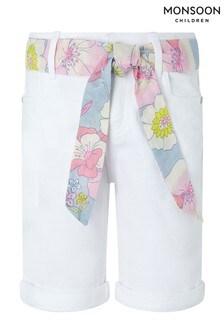 Monsoon White Dawn Denim Shorts
