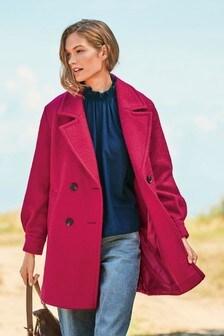 Buy Red Bouclé Coat from the Next UK online shop