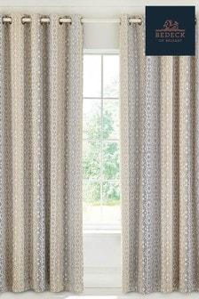 Bedeck of Belfast Satara Geo Cotton Lined Eyelet Curtains