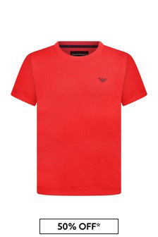 Boys Cotton Red Top