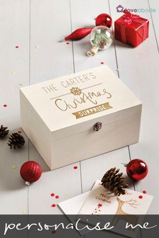Personalised Snowflake Christmas Eve Box by Loveabode
