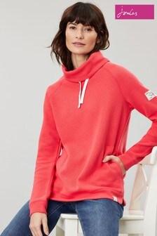 Joules Red Nadia Ribbed Sweatshirt