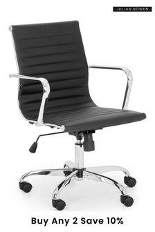 Julian Bowen Gio Black Chrome Office Chair