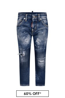 Dsquared2 Kids Boys Blue Denim Jeans