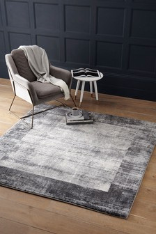 Square Textured Border Rug