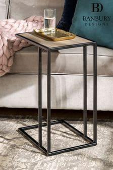 Banbury Designs Grey Wash Modern End Table