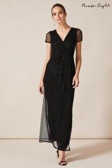 Phase Eight Black Natasia Beaded Maxi Dress