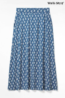White Stuff Blue Abberford Jersey Maxi Skirt