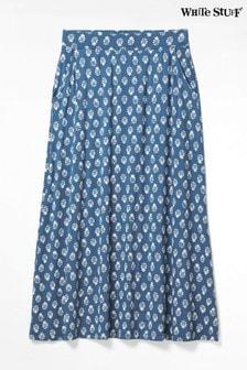 White Stuff Blue Abberford Jersey Maxi Skirt