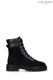Kurt Geiger London Black Shore Biker Boots