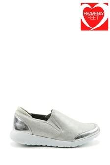 Heavenly Feet Carmel Ladies Silver Leisure Shoes