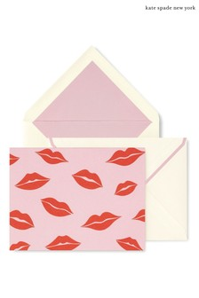 kate spade new york Lips Foldover Card Set