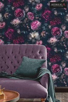 Dark Magic Multi Floral Wallpaper by Arthouse