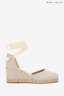 Mint Velvet Cream Beth Espadrille Wedges