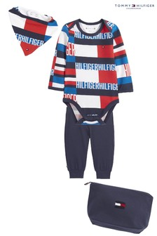 Tommy Hilfiger Blue Baby Flag Print Gift Pack