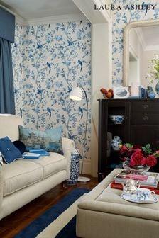 Laura Ashley Royal Blue Summer Palace Wallpaper