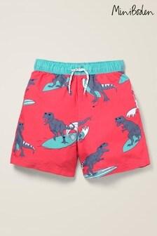 Mini Boden Red Swim Shorts