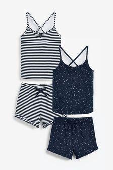 2 Pack Short Cami Pyjamas (3-16yrs)