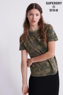 Superdry Dry Oversize- T-Shirt, Dunkelgrün