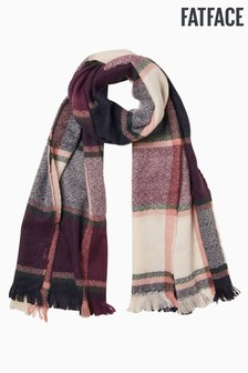 FatFace Purple Check Mid Weight Scarf