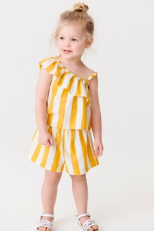 One-Shoulder Co-ord Set (3mths-7yrs)