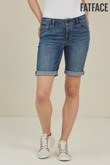 FatFace Blue Denim Bermuda Shorts