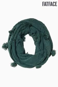 FatFace Green Crochet Snood