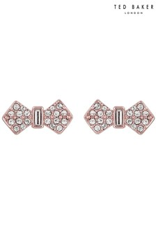Ted Baker Metallic Sersi Solitaire Pave Bow Earrings