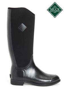 Muck Boots Black Women's Derby Tall Boots