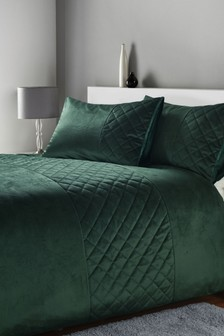 Hamilton Velvet Duvet Cover And Pillowcase Set
