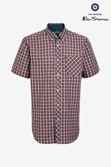 Ben Sherman Red Short Sleeve House Check Shirt