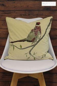 Riva Home Cream Velvet Cushion