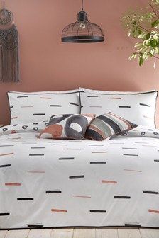 Appletree Tenley Reversible Cotton Duvet Cover and Pillowcase Set