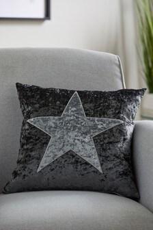 Crushed Velvet Star Cushion