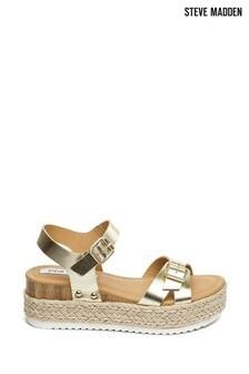 Steve Madden Gold Cam Sandals