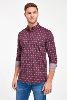 Geo Print Long Sleeve Shirt