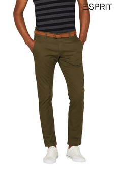 Esprit Green Chino Slim Fit Pants
