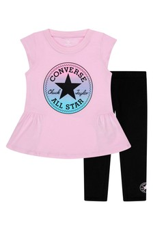 Converse Girls Black Outfit