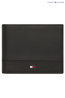 Tommy Hilfiger Black Essential Flag Mini Wallet